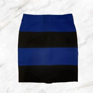 Banana Republic | Royal Blue & Black Pencil Skirt